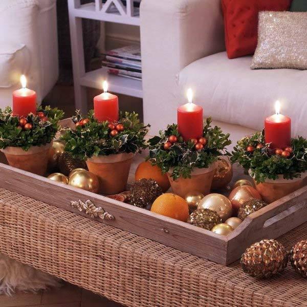 новогодние композиции со свечами 1