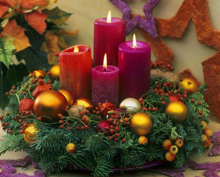 новогодние композиции со свечами 14