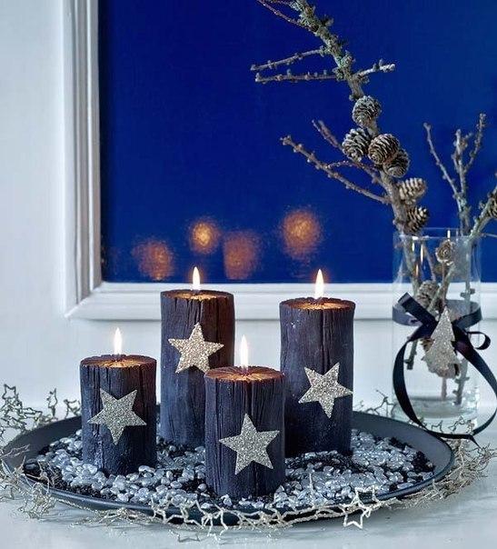 новогодние композиции со свечами 4