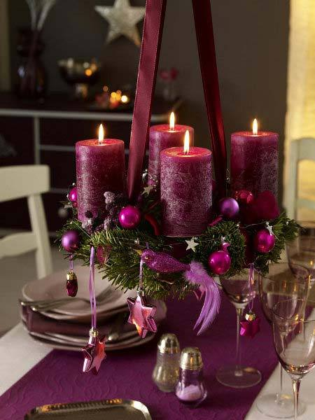новогодние композиции со свечами 5