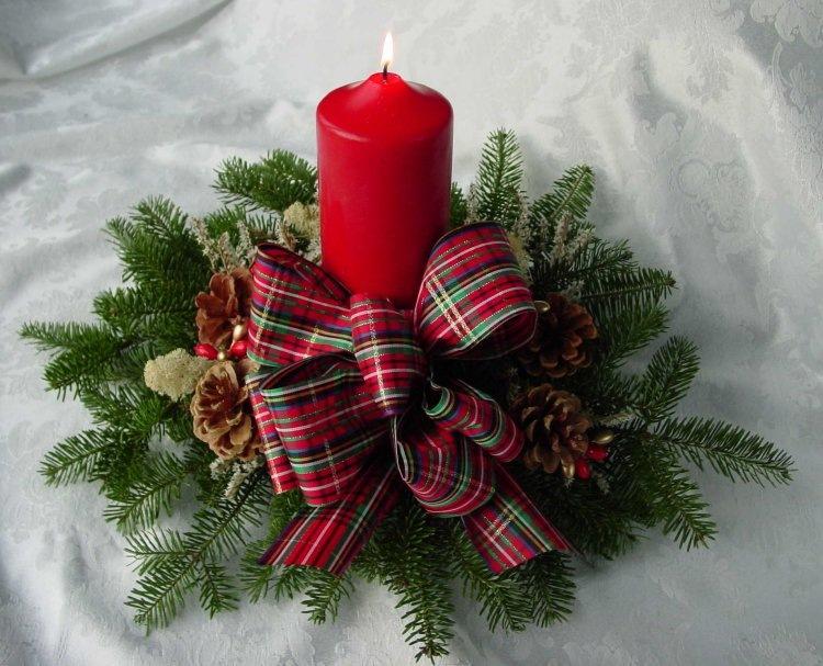 новогодние композиции со свечами 9
