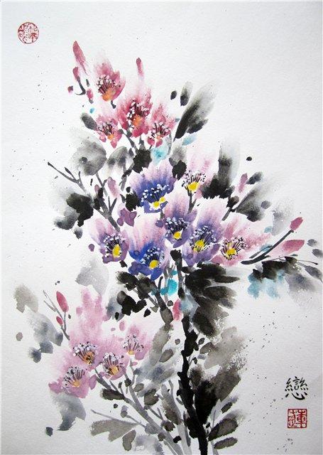 цветы в кинайской живописи 10а