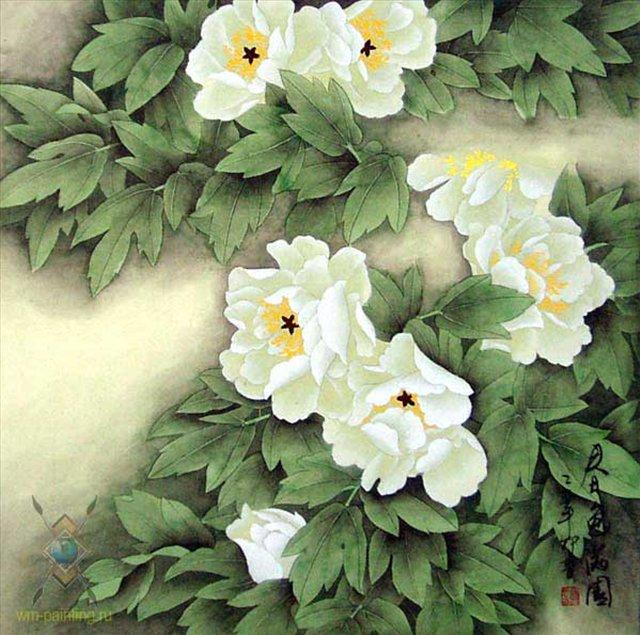 цветы в кинайской живописи 15
