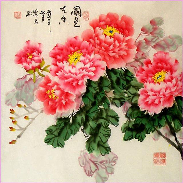 цветы в кинайской живописи 16