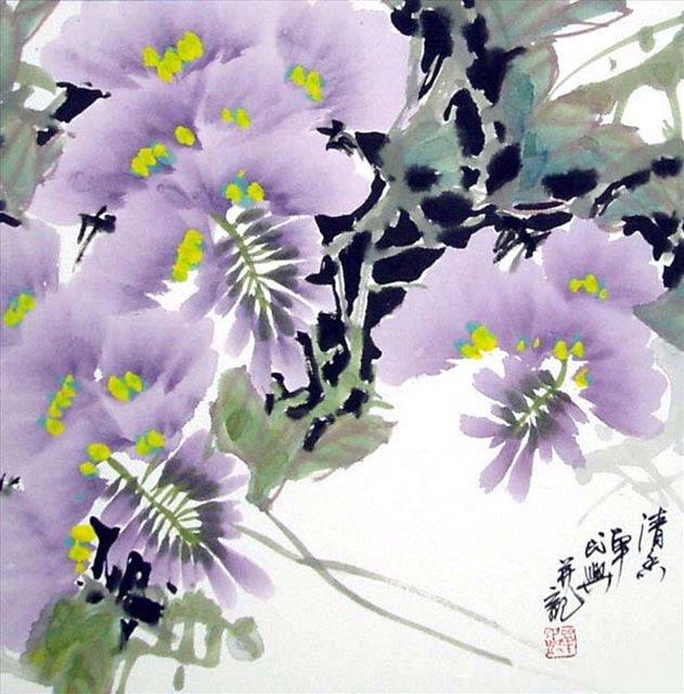 цветы в кинайской живописи 18