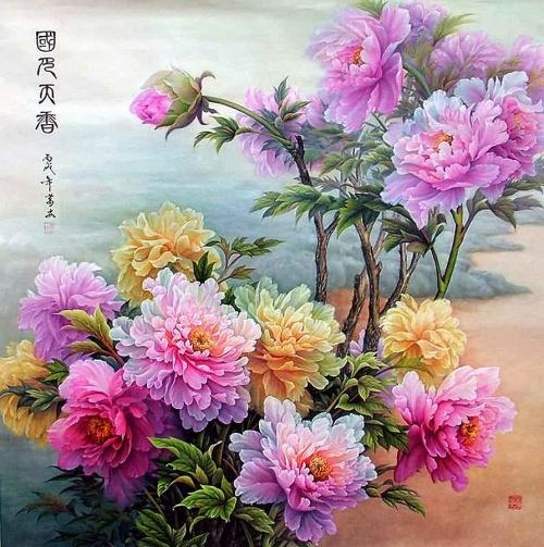 цветы в кинайской живописи 28