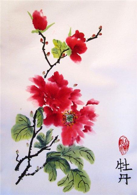 цветы в кинайской живописи 3а
