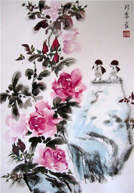 цветы в кинайской живописи 4а