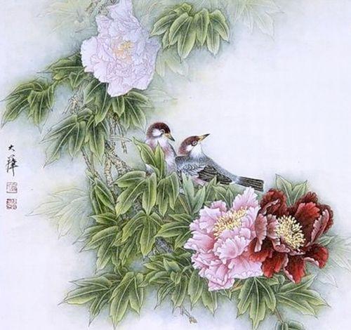 цветы в кинайской живописи 7
